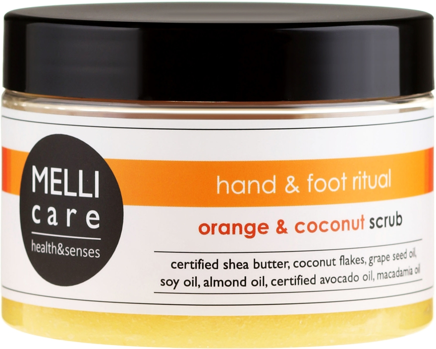 Oczyszczająco-relaksujący peeling solno-cukrowy do dłoni i stóp Pomarańcza i kokos - Melli Care Hand & Foot Ritual Orange & Coconut Scrub — фото N1