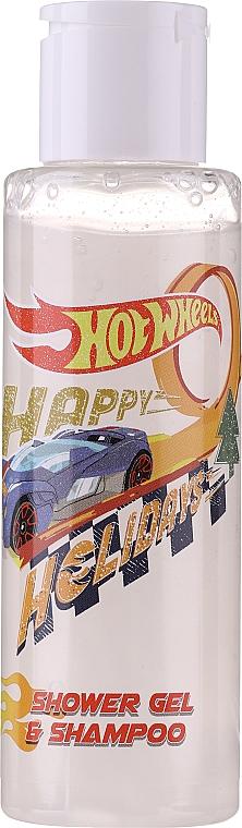 Zestaw - Uroda HotWheels Let's Race Set (sh/gel/100ml + deo/100ml + stickers) — фото N5