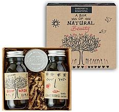 Kup Zestaw (żel do mycia ciała + balsam do ciała + balsam do ust) - Bath House A Box Of Natural Beauty (b/wash 60 ml + b/lot 60 ml + lip/balm 15 g)