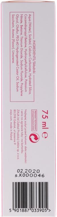 Pasta stomatologiczna zmniejszająca nadwrażliwość - Ziaja Mintperfekt Sensitiv — фото N3