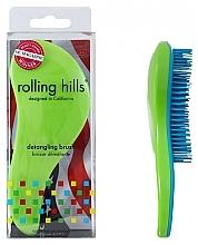 Kup Szczotka do włosów, zielono-niebieska - Rolling Hills Detangling Brush Travel Size Shine Green