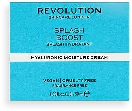 Krem nawilżający do twarzy z kwasem hialuronowym - Revolution Skincare Splash Boost with Hyaluronic Acid — фото N2