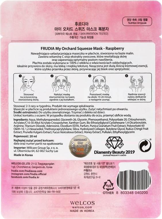 Nawadniająco-uelastyczniająca maseczka na bazie malin w płachcie do twarzy - Frudia My Orchard Squeeze Mask Raspberry  — фото N2