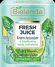 Kup Detoksykujący krem-booster do cery mieszanej, tłustej i wrażliwej z bioaktywną wodą cytrynową - Bielenda Fresh Juice Booster