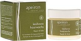 Kup Stylizujący wosk do włosów suchych i zniszczonych - Apeiron Keshawa Hair Wax Repair & Style