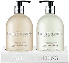 Kup Zestaw do pielęgnacji ciała - Baylis & Harding Jojoba, Silk & Almond Oil (b/lot 500 ml + soap 500 ml)