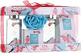 Kup Zestaw kosmetyków o zapachu czarnej wanilii - Spa Moments Vanille Noire (sh/gel 100 ml + sh/gel 100 ml + salf 50 + soap 50 g + sh/sponge)