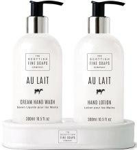 Kup Zestaw - Scottish Fine Soaps Au Lait Hand Set (soap/300ml + h/lot/300ml)