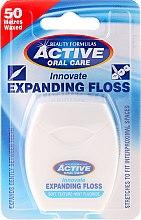 Kup Miękka nić dentystyczna z miętą i fluorem - Beauty Formulas Active Oral Care Expanding Floss Mint With Fluor, 50 m