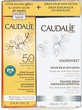 Kup Zestaw przeciwzmarszczkowy do twarzy - Caudalie Vinoperfect (ser 30 ml + sun/cr 25 ml)