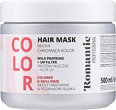 Kup Maska do włosów farbowanych z proteinami mlecznymi i ochroną UV - Romantic Professional Color Hair Mask