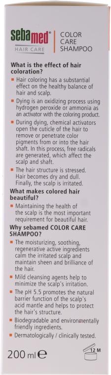Szampon do włosów farbowanych - Sebamed Classic Colour Care Shampoo — фото N2