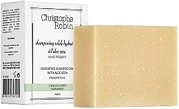 Kup Szampon w kostce do włosów z aloesem - Christophe Robin Hydrating Shampoo Bar with Aloe Vera