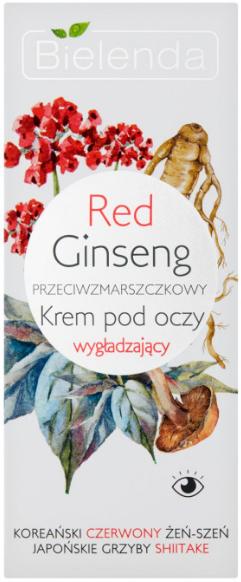 Przeciwzmarszczkowy krem wygładzający pod oczy Czerwony żeń-szeń - Bielenda Red Ginseng