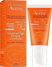 Kup Przeciwsłoneczny krem przeciwstarzeniowy do twarzy SPF 50+ - Avène Solaire Anti-Age