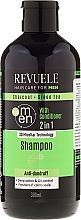 Kup PRZECENA! Przeciwłupieżowy szampon i odżywka do włosów dla mężczyzn - Revuele Men Charcoal + Green Tea 2in1 Shampoo *