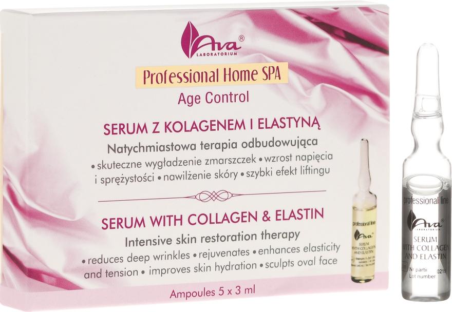 Serum do twarzy z kolagenem i elastyną - AVA Laboratorium Home SPA Age Control — фото N1