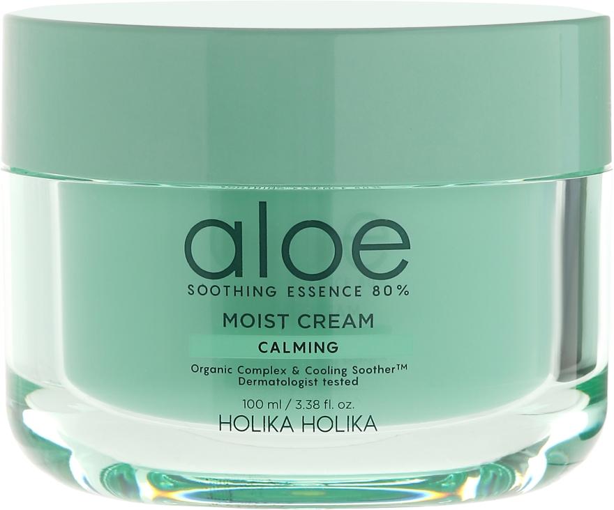 Nawilżający krem kojący z aloesem - Holika Holika Aloe Soothing Essence 80% Calming Moist Cream — фото N2