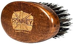 Kup Drewniana szczotka do brody z naturalnym włosiem, ciemna - Ronney Professional Barber Small Brush