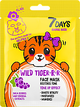 Kup Maseczka do twarzy - 7 Days Animal Wild Tiger-r-r Face Mask