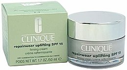 Kup Naprawczy krem ujędrniający do skóry suchej mieszanej i tłustej mieszanej - Clinique Repairwear Uplifting Cream SPF15