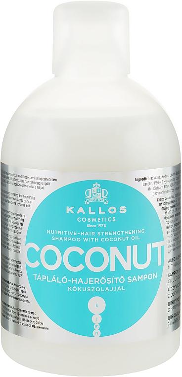 Odżywczy szampon wzmacniający do włosów z olejem kokosowym - Kallos Cosmetics Coconut Shampoo
