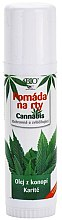 Kup Balsam do ust z olejem konopnym i masłem shea - Bione Cosmetics Cannabis Lip Balm With Shea Butter
