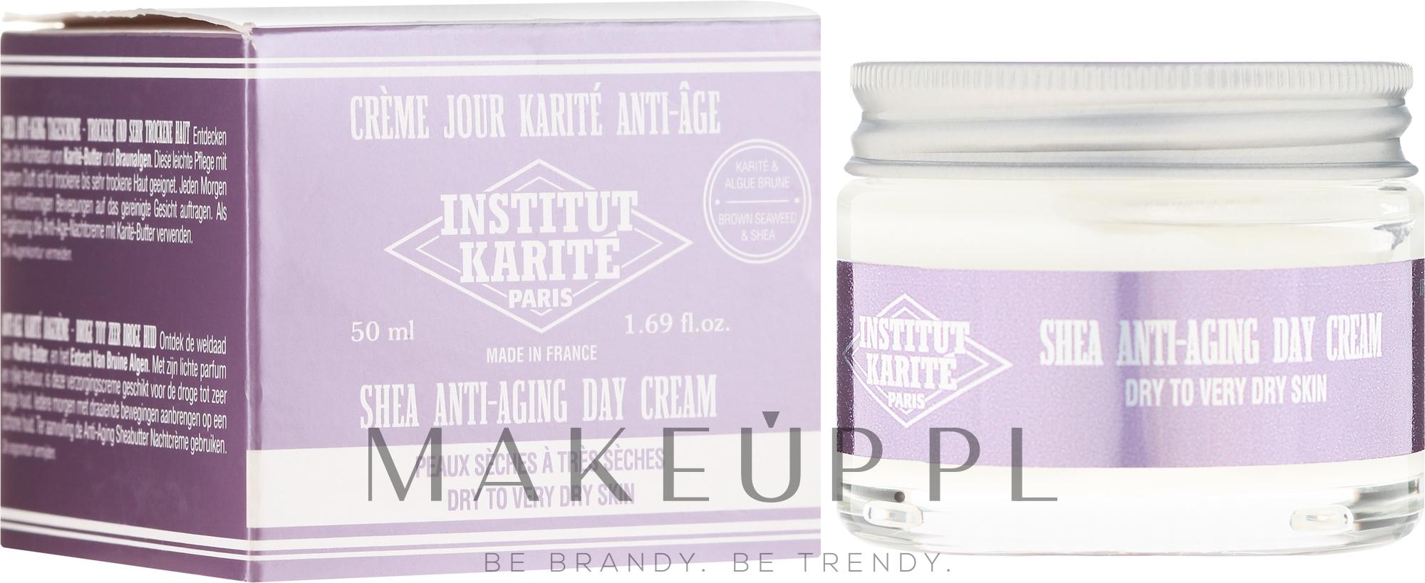 Przeciwzmarszczkowy krem do twarzy na dzień - Institut Karite Shea Anti-Aging Day Cream — фото 50 ml