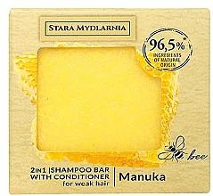 Kup Twardy szampon i odżywka do włosów 2 w 1, manuka - Stara Mydlarnia Manuka Honey 2in1 Shampoo Bar