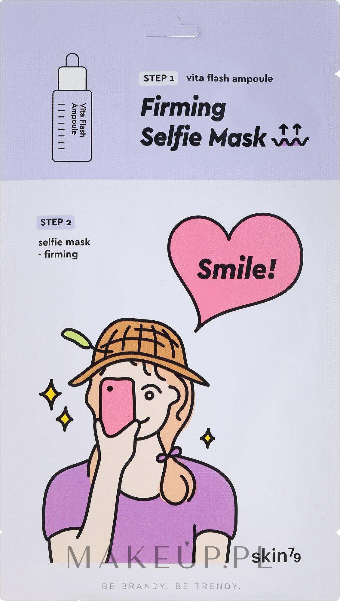 Maska na tkaninie do twarzy - Skin79 Firming Selfie Mask — фото 26 ml