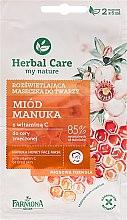 Kup Rozświetlająca maseczka do twarzy Miód manuka - Farmona Herbal Care