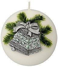 Kup Świeca dekoracyjna, kula, świąteczny dzwonek, 10 cm - Artman Christmas Bell Ball Candle