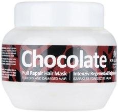 Kup Intensywna, regenerująca, czekoladowa maska do suchych i łamiących sie włosów - Kallos Cosmetics Chocolate Mask