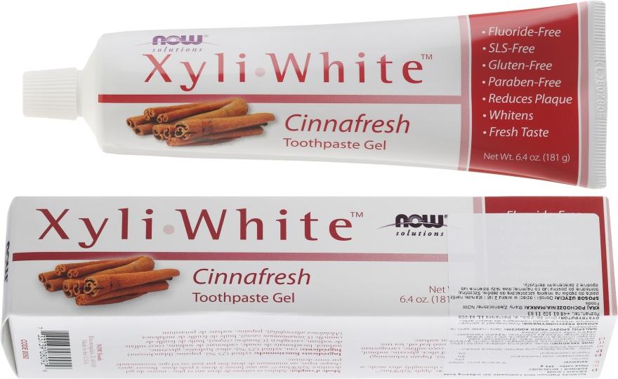 Cynamonowa pasta do zębów - Now Foods XyliWhite Cinnafresh Toothpaste Gel — фото N1