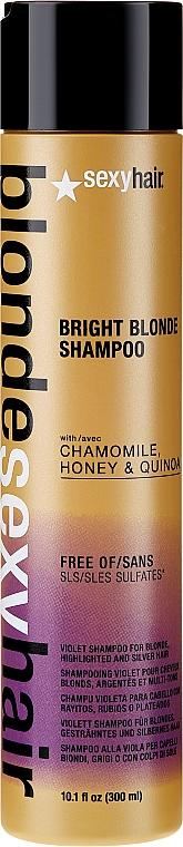 Rozjaśniający szampon do włosów blond - SexyHair Blonde Sulfate-Free Bright Violet Shampoo — фото N1