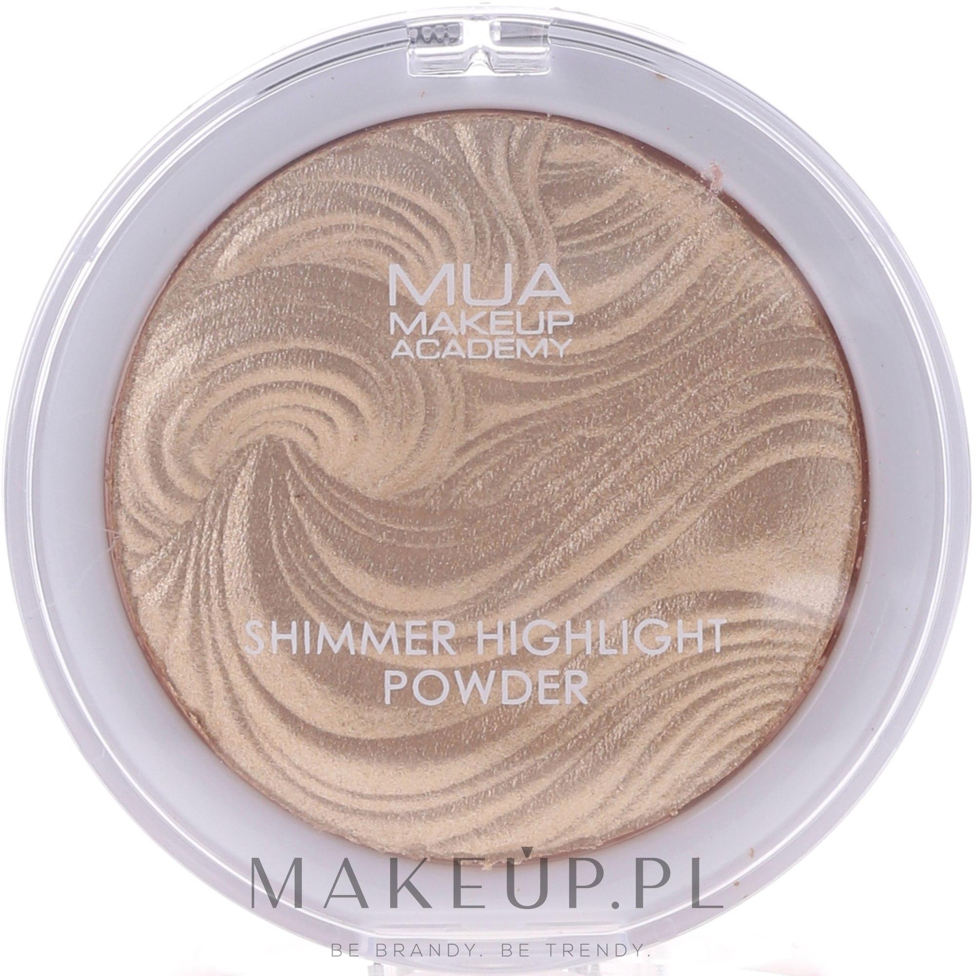 Rozświetlacz do twarzy - MUA Makeup Academy Shimmer Highlighter Powder — фото Golden Scintillation