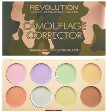 Kup Paletka kolorowych kremowych korektorów do twarzy - Makeup Revolution Camouflage Corrector Palette