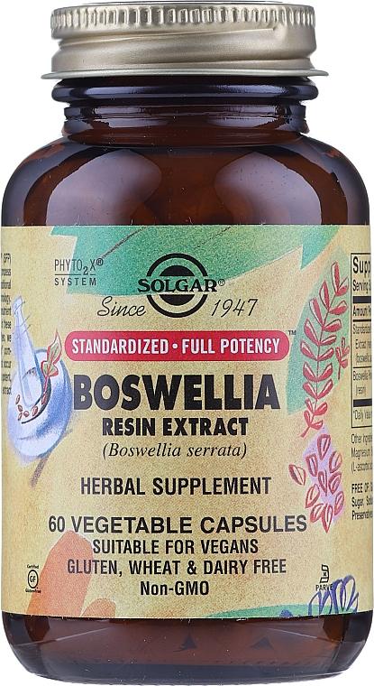Ziołowy suplement, Ekstrakt z żywicy boswellia - Solgar Boswellia Resin Extract Herbal Supplement