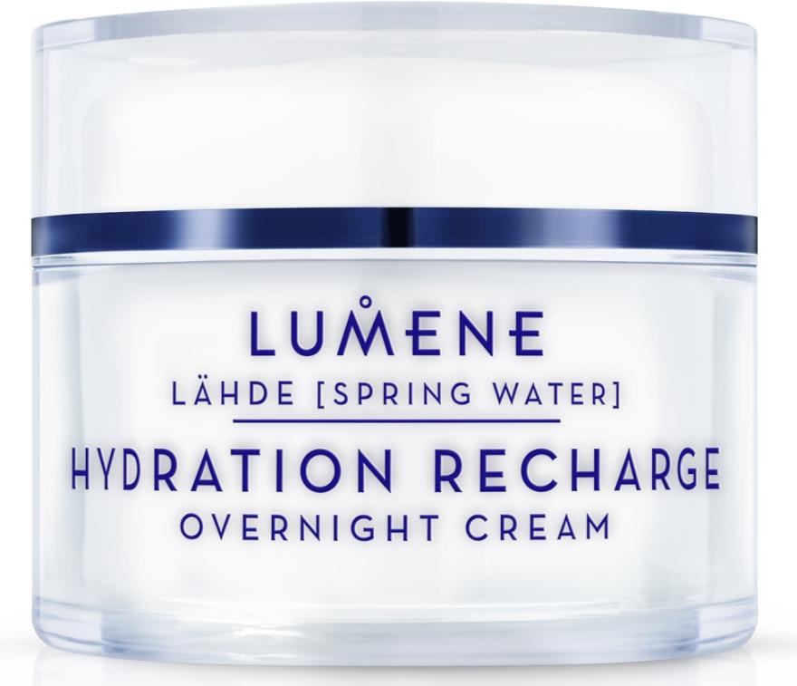 Nawilżający krem na noc - Lumene Lahde [Spring Water] Hydration Recharge Overnight Cream — фото N1