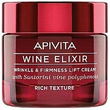 Kup Bogaty przeciwzmarszczkowo-ujędrniający krem do twarzy z polifenolami wina Santorini - Apivita Wine Elixir Wrinkle And Firmness Lift Cream Rich Texture