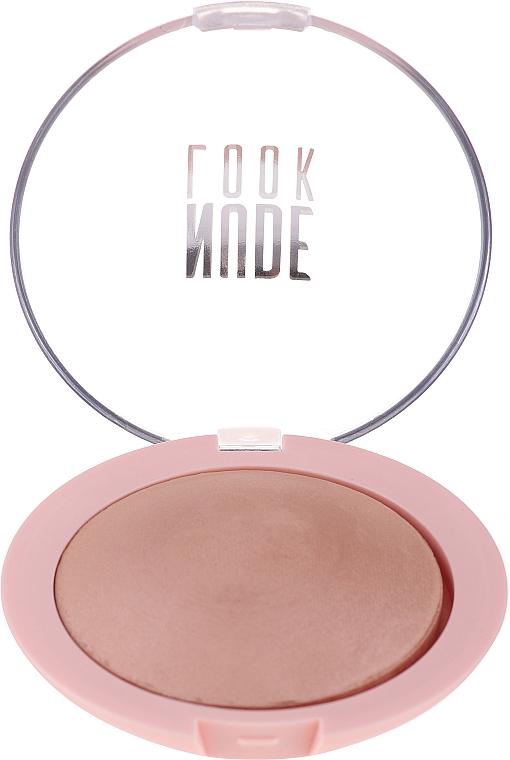 Rozświetlający puder do twarzy - Golden Rose Nude Look Sheer Baked Powder