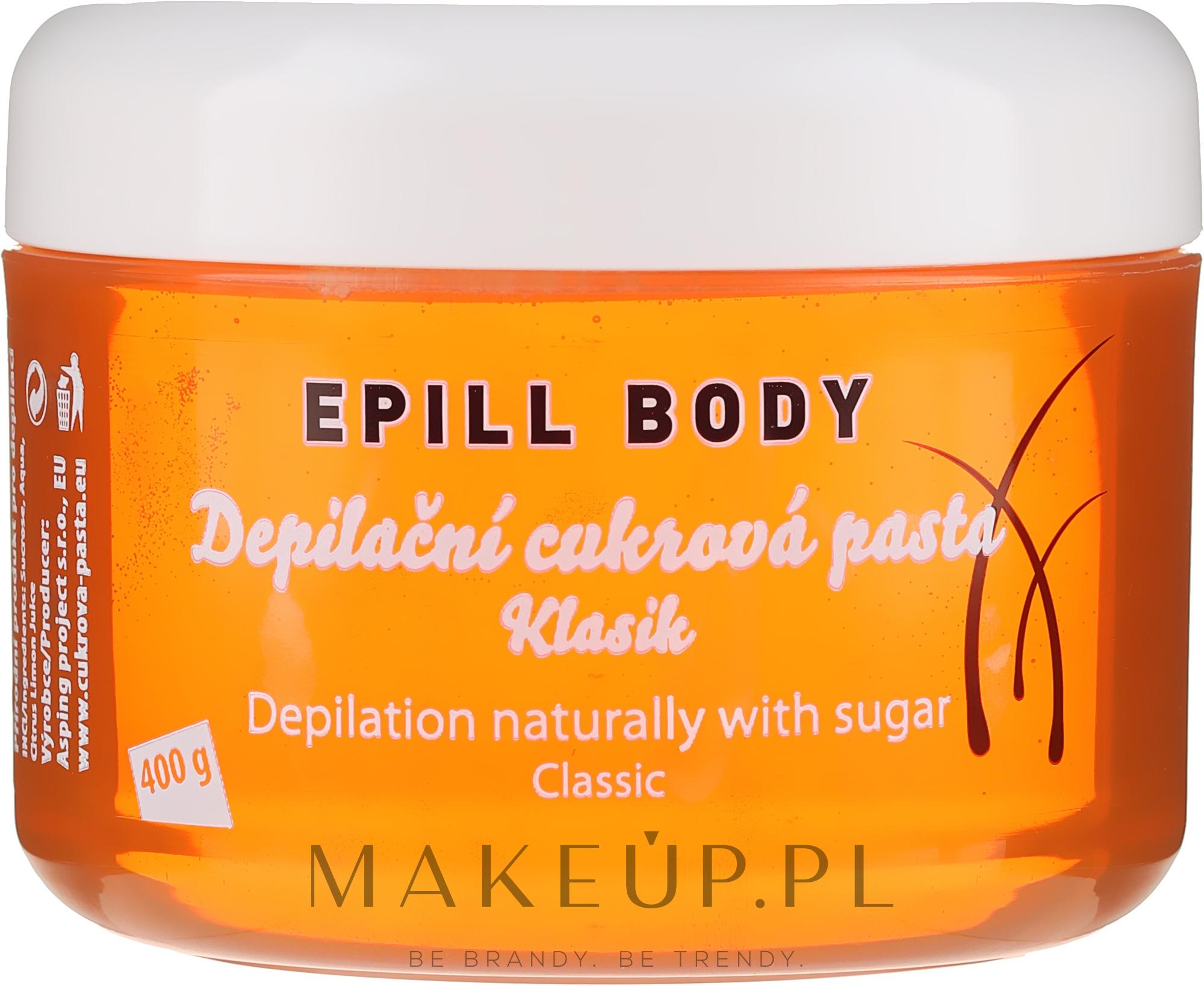 Pasta cukrowa do depilacji - Epill Body Depilation Naturally With Sugar Classic — фото 400 g