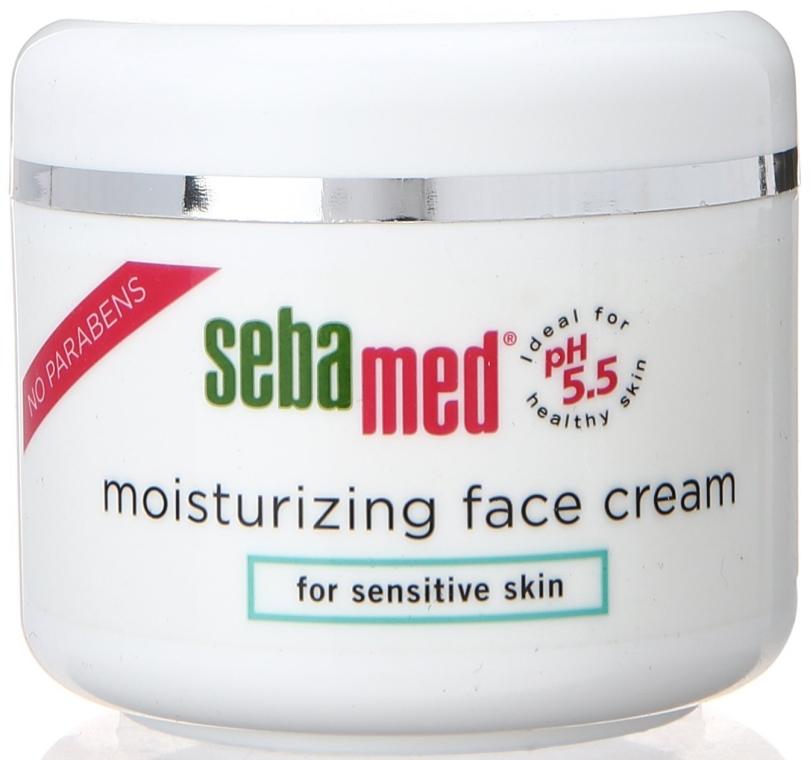 Nawilżający krem do twarzy - Sebamed Moisturing Face Cream Sensitive Skin — фото N1