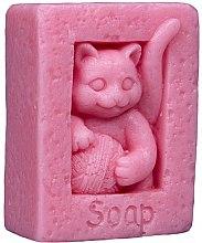 Kup Naturalne mydło ręcznie robione o zapachu wiśniowym Kot z kłębkiem wełny - LaQ Happy Soaps
