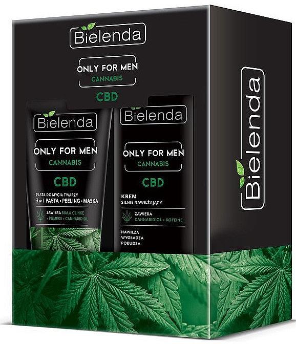 Zestaw - Bielenda Only For Men Cannabis (cr/50ml + paste/150g)