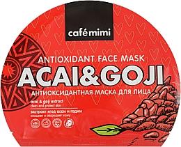 Kup Antyoksydacyjna maska w płachcie - Cafe Mimi Antioxidant Face Mask Acai & Goji