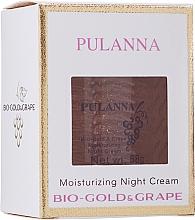 Kup Nawilżający krem do twarzy na noc Biozłoto i winogrono - Pulanna Bio-Gold & Grape Moisturizing Night Cream