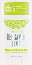 Kup Naturalny dezodorant - Schmidt's Naturals Deodorant Bergamot Lime Stick