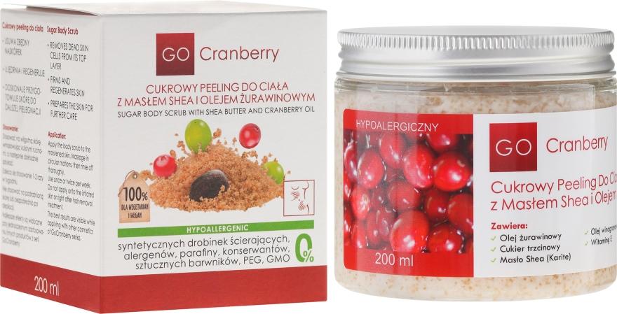 Cukrowy peeling do ciała z masłem shea i olejem żurawinowym - GoCranberry