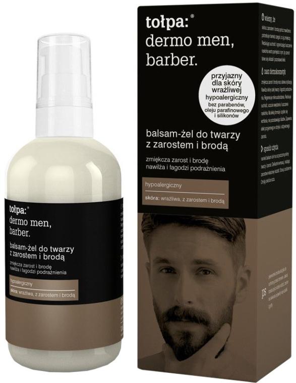 Balsam-żel do twarzy z zarostem i brodą - Tołpa Dermo Men Barber